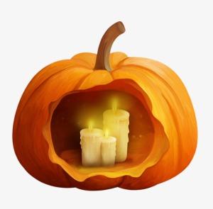 halloween zapallo y vela zack