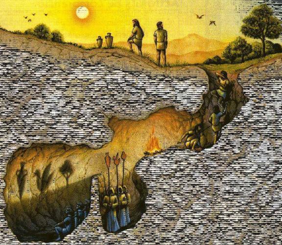 mito caverna ladrillo