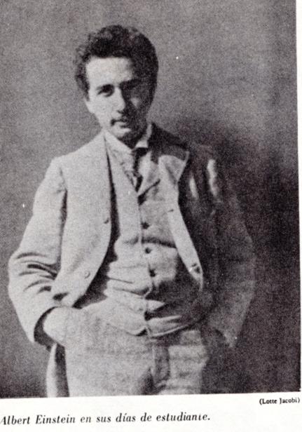 albert Einstein joven estudiante