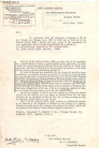 generador de Aire patente london 1934