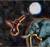 los santos elefante y colibri