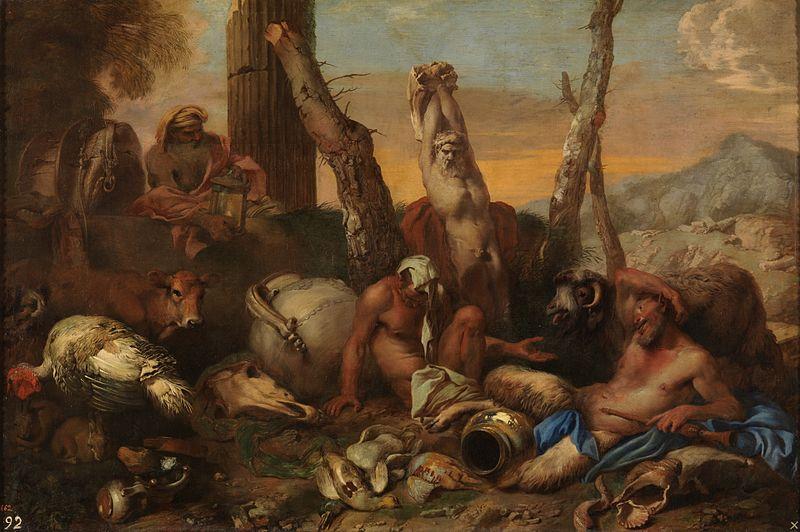 diogenes Castiglione,_Giovanni_-_Fable_of_Diogenes_-_17th_century