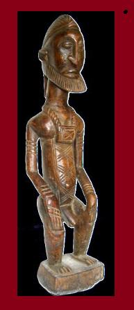 yoruba dogon estatua black