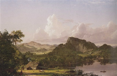 frederic-edwin-church-home-by-the-lake-(scene-in-the-catskill-mountains)