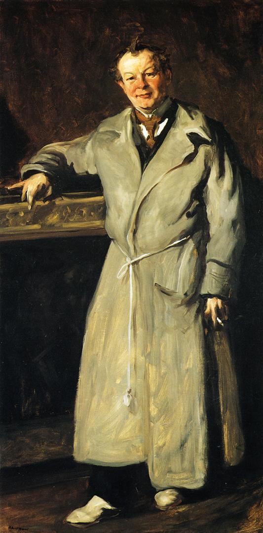 George Luks by Robert Henri 1904 oil on canvas 194 x 97 cm